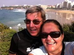 Pi und Ami in Biarritz