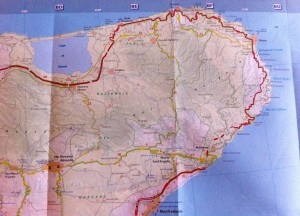 Karte Gargano