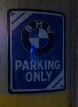 Parkplatz nur für den Bock