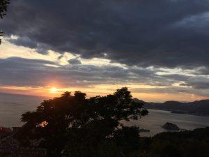 Sonnenuntergang in Sveti Stefan