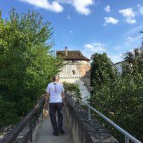 Spaziergang auf der Stadtmauer in Nördlingen