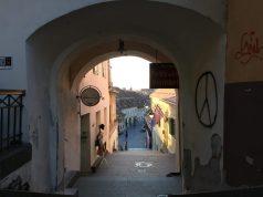 Blick in die Unterstadt in Sibiu