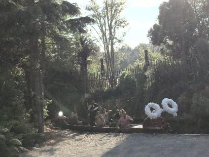 Ankunft des Maori Chiefs mit seinem Waka