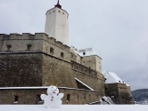 Schneesozia bei der Burg Forchtenstein
