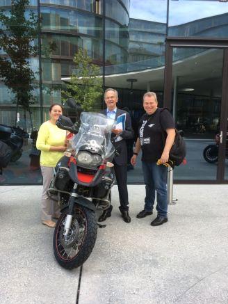 Besuch vom Boss Andreas Treichl
