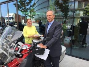 Der Boss selber ein Motorradfan
