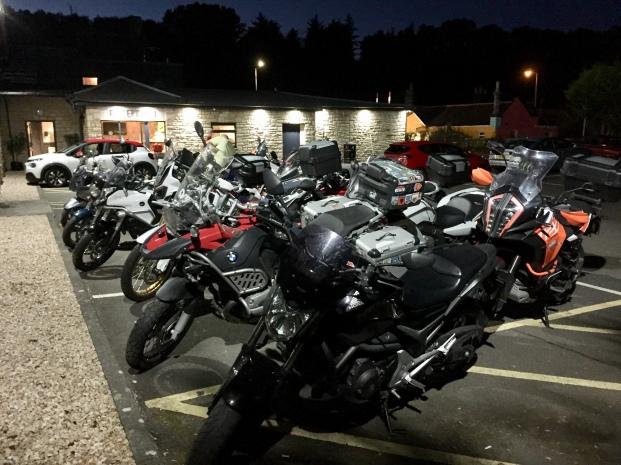 Die Motorräder in Schottland