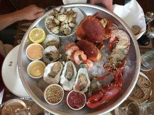 Seafood-Platte