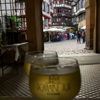 Am Weinfest in Colmar