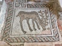 Mosaik in der kleinen frühchristlichen Kirche